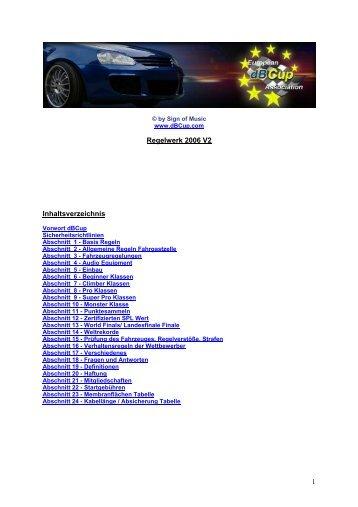 dBcup Regelwerk 2006 - Car Hifi Audio Neuigkeiten und Infos