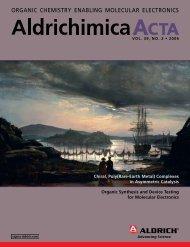 ORGANIC CHEMISTRY ENAblING MOlECUlAR ... - Sigma-Aldrich