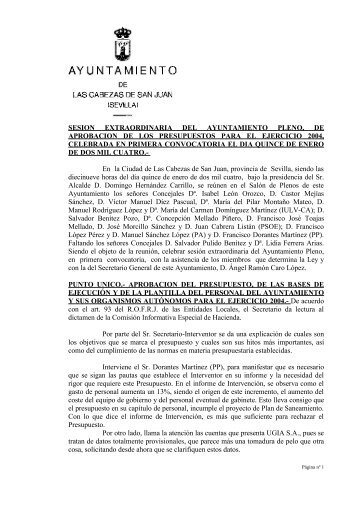 15-Ene - Ayuntamiento de Las Cabezas de San Juan