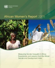 African Women's Report 2009 - United Nations Economic ...