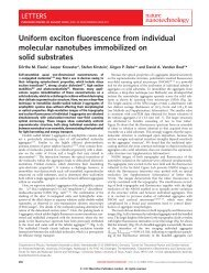 Uniform exciton fluorescence from individual molecular nanotubes ...