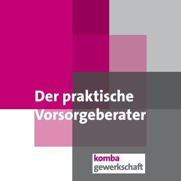 Der praktische Vorsorgeberater - komba LVR