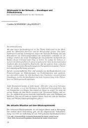 20 Glücksspiel in der Schweiz — Grundlagen und ... - Sucht Schweiz