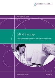 Management information for outpatient services ... - Audit Scotland