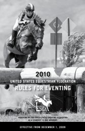 2010 USEF Rules for Eventing, Rulebook - Long Format Club