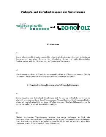 Verkaufs- und Lieferbedingungen der Firm engruppe ... - Technoholz
