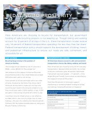 PEDALING TO PROSPERITY - Sierra Club