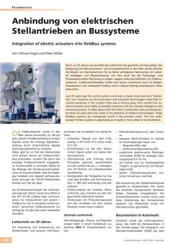 Anbindung von elektrischen Stellantrieben an Bussysteme