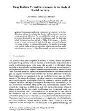Using Realistic Virtual Environments in the Study of Spatial Encoding