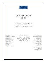 Litigation Update 2007 - Margolis Edelstein