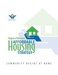 Region of Waterloo Affordable Housing Strategy - Social Services