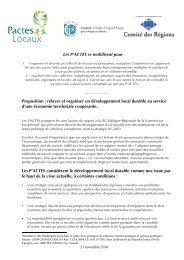 Les P'ACTES se mobilisent pour : Proposition ... - Pactes Locaux