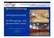 Sporterziehertag - Bewegung und Sport in Kärntner Schulen