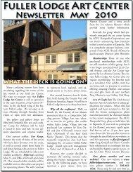 Newsletter - Fuller Lodge Art Center