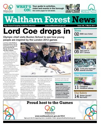 Issue 38: Lord Coe drops in - Waltham Forest Council