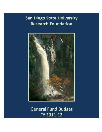 General Fund Budget (FY 11-12) - SDSU Research Foundation
