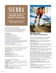 EXPLORE, ENJOY & PROTECT THE PLANET - Sierra Club