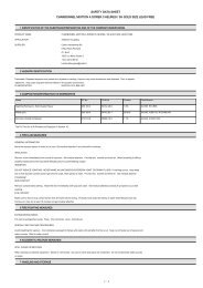 safety data sheet charbonnel mixtion a dorer 3 heures ... - Aart de Vos