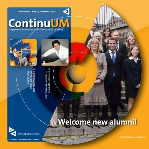 Welcome new alumni! - Maastricht University