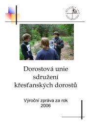 Výroční zpráva DU 2006a.pdf - Dorostová unie