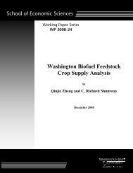 Washington Biofuel Feedstock Crop Supply Analysis