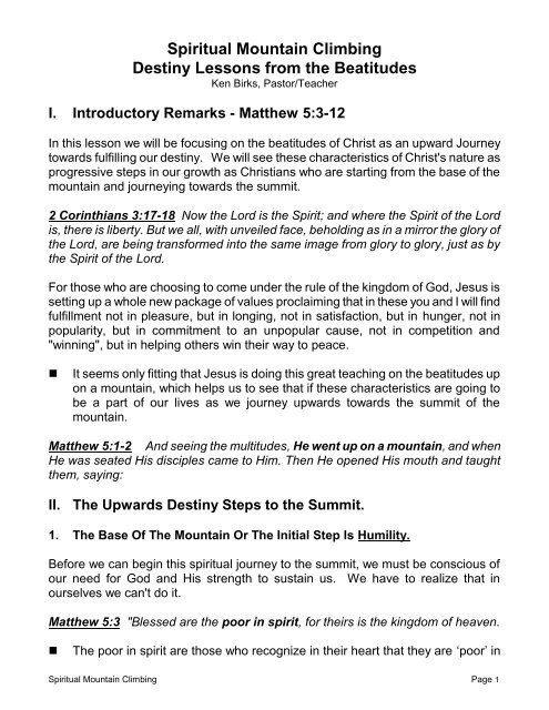 what do the beatitudes mean