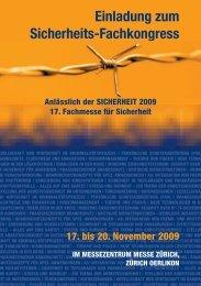 Einladung zum Sicherheits-Fachkongress - sicherheit-online ...