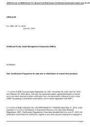SEBI Circular on NISM-Series-V-A: Mutual Fund ... - Rrfinance.com
