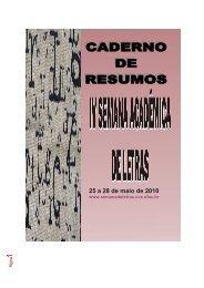 Caderno de Resumo 2010 - Semana de Letras - UFSC
