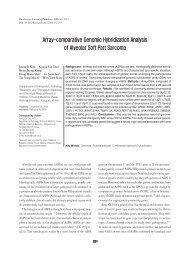 Array-comparative Genomic Hybridization Analysis of Alveolar Soft ...