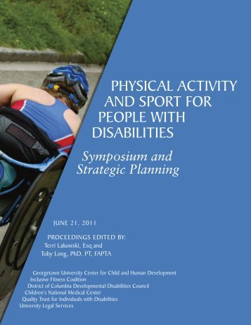 Physical Activity and Sport for People with Disabilities - Georgetown ...