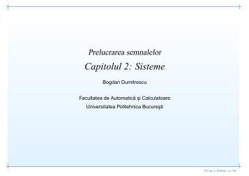 Capitolul 2: Sisteme
