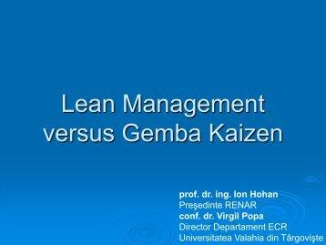 Lean Management versus Gemba Kaizen - ecr-uvt
