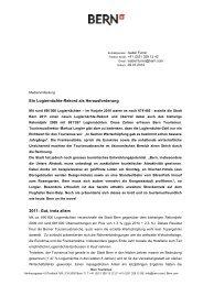 Bilanz 2011 Ausblick 2012 - Wirtschaftsraum Bern
