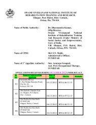 Name of Public Authority: - National Institute of Rehabilitation ...