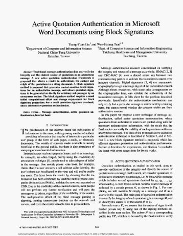 Active Quotation Authentication in Microsoft Word Documents using ...