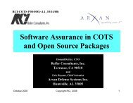 Software Assurance in COTS and Open Source ... - Build Security In