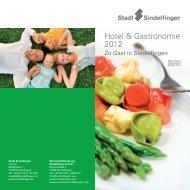 Hotel & Gastronomie 2012 - Wirtschaftsförderung Sindelfingen GmbH
