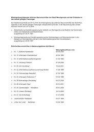 Weitergeltung folgender örtlicher Bauvorschriften der ... - Wernigerode