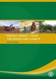 """""""Energy-Smart"""" Food For People And Climate Issue Paper - FAO"""