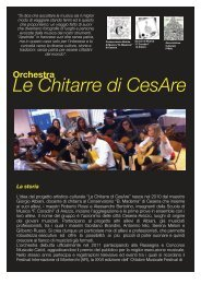 Orchestra Le Chitarre di CesAre - Comune di Arezzo