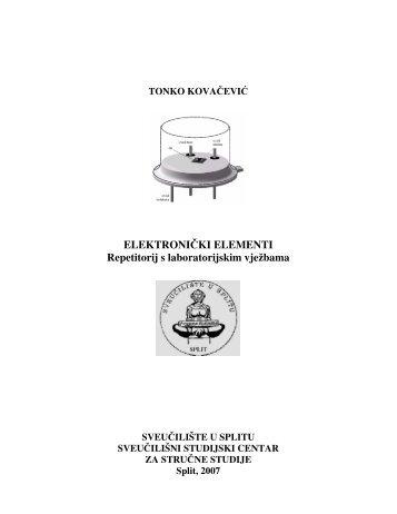 ELEKTRONIČKI ELEMENTI Repetitorij s ... - Student Info