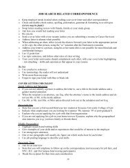 job search related correspondence - Syracuse University College of ...