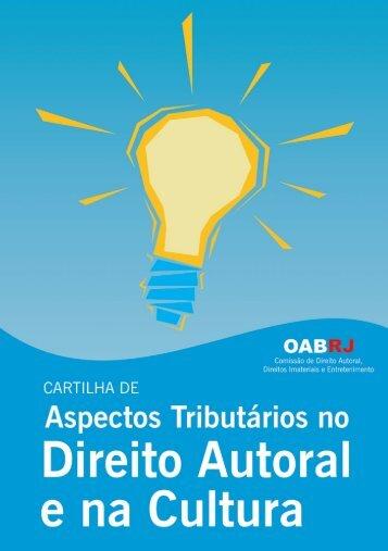 Aspectos Tributários no Direito Autoral e na Cultura - Oab-RJ