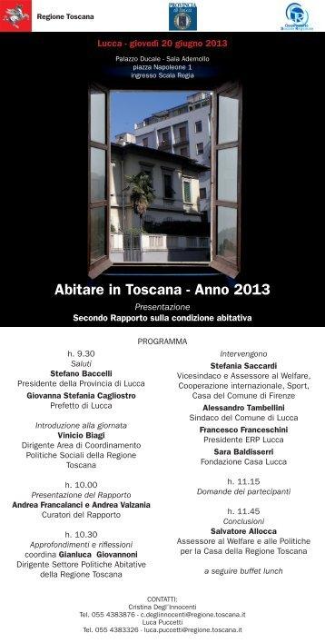 Programma - Fondazione Casa Lucca