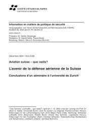 L'avenir de la défense aérienne de la Suisse Conclusions d ... - VSWW