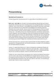 Pressemeldung - Skandia Lebensversicherung AG