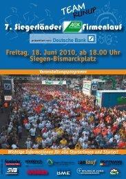 anlauf Lauf - Siegerländer AOK Firmenlauf