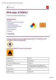 OVA-ohje: ETANOLI - Työterveyslaitos