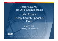 The Oil & Gas Dimension John Roberts Energy Security Specialist ...